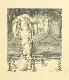 """Image taken from:  Title: """"[Poems ... Tenth edition.]"""", """"Poems, 1842"""" Author: TENNYSON, Alfred - Baron Tennyson Contributor: Creswick, Thomas Contributor: Horsley, John Callcott Contributor: Hunt, William Holman Contributor: MACLISE, Daniel. Contributor: MILLAIS, John Everett - Sir, Bart Contributor: MULREADY, William. Contributor: STANFIELD, William Clarkson. Shelfmark: """"British Library HMNTS 11647.e.59."""" Page: 95 Place of Publishing: London Date of Publishing: ..."""