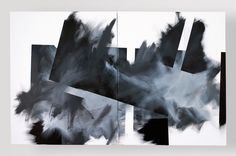 Pippo Lionni, GRAYMATTERS 31, 2010, acrylic on canvas, diptych, 100x160cm
