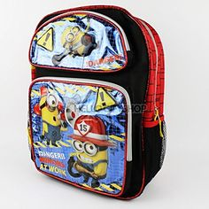 Despicable Me Minions At Work Glitter Boys and Girls School Backpack with Lunch Bag Set -  - $32.99 Hiking Backpack, Laptop Backpack, My Minion, Minions, Awesome Backpacks, Girls School, Jansport, Boy Or Girl, Cool Style
