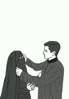300 Gambar Kartun Muslimah Bercadar Cantik Sedih Keren Lengkap