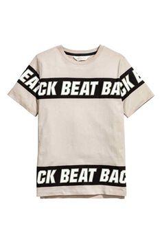 T-shirt avec impression - Taupe clair - ENFANT   H&M BE