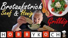 Honig-Senf Dip mit Frischkäse - Rezept von Der Hobbykoch Eggs, Breakfast, Curry, Food, Youtube, Sandwich Spread, Honey Mustard Sauce, Morning Coffee, Curries