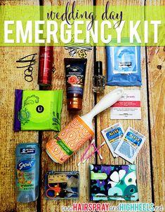 Wedding Day Emergency Kit with U by Kotex! #beauty #weddings