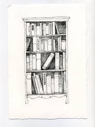 Image Result For Bookshelf Drawing Yahoo Search Projects Bookshelves Doodles Drawings
