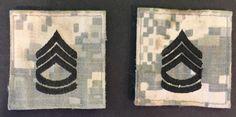 Set Of 2 US Army SFC/E-7 Ranks On ACU Background     eBay