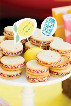 Lemonade Cookie Sandwiches - instead of macaroons in case of peanut allergies