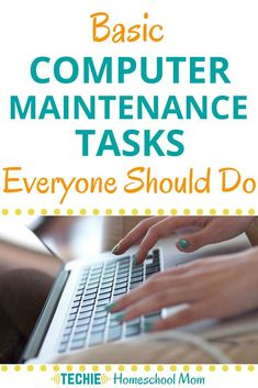 Basic Computer Maintenance Tasks Everyone Should Do - Techie Homeschool Mom - If you use any computers for your homeschooling, it's important to keep them maintained so that y - Computer Shortcut Keys, Computer Diy, Life Hacks Computer, Computer Projects, Computer Lessons, Computer Basics, Computer Internet, Computer Repair, Computer Security