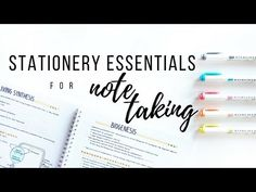 (13) My stationery essentials for note taking - spring 2018 | studytee - YouTube
