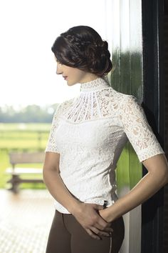HKM Lauria Garrelli Lace Competition Shirt... Dazzle in this stunning lace competition shirt.. only £45.00!
