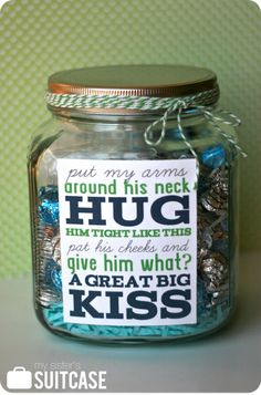 Father's Day treat jar & free printable tag from My Sister's Suitcase