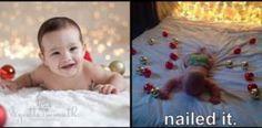 Nailed it! 20 Hilarious Christmas Craft FAILS: FAIL: Cute Kid Cards, Part Deux