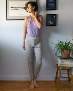 Sewing Tutorial - How to pattern hack the Summer Sweatsuit shorts pattern to create knit jogger pants by Sew DIY Pants Pattern, Top Pattern, Jogger Pants, Joggers, Sewing Tutorials, Sewing Patterns, Long Underwear, Knit Shorts, Summer Shorts