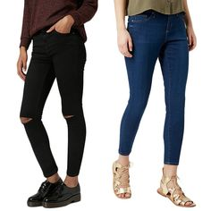 Rank & Style - Topshop Petite Moto Black Ripped Jamie Jeans & Moto Leigh Ankle Skinny Jeans #rankandstyle