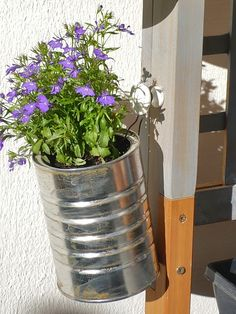 recycled cans, planters