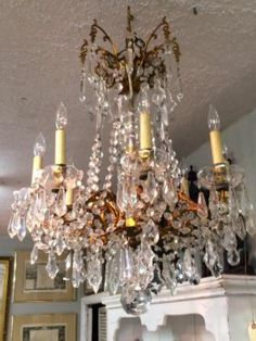 French and Italian Chandeliers   Many Beaded   Many to choose from.  Country Garden Antiques 147 Parkhouse  Dallas, TX 75207