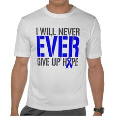Histiocytosis I Will Never Ever Give Up Hope Tees  by www.giftsforawareness.com