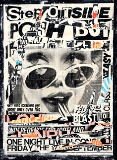 Charlie Anderson's paintings have a punk art style and are a wonderful mash up of photo realism and urban pop art with a street art aesthetic Graphic Design Posters, Art Photography, Punk Art, Punk Poster, Pop Art Painting, Poster Art, Art, Collage Poster, Collage Art