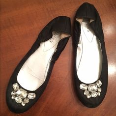 Women's Black GUESS Flats Black GUESS flats with gem detail on front Guess Shoes Flats & Loafers