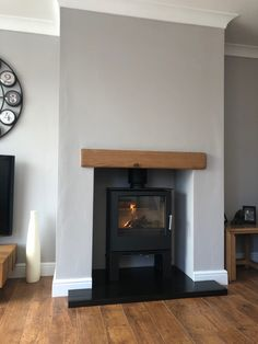Log Burner Living Room, Living Room Lounge, New Living Room, Interior Design Living Room, Living Room Designs, Kitchen Interior, Inglenook Fireplace, Home Fireplace, Living Room With Fireplace