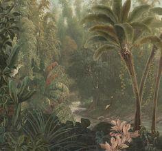Graham & Brown Digital Mural Fotobehang 300 x 280 cm - Jungle Wallpaper Roll, Pattern Wallpaper, Wallpaper Jungle, Tropical Wallpaper, Mural Art, Wall Murals, Bohemian Decoration, Marble House, Jungle Art