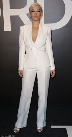 Head turner: Rita Ora certainly did a good job of making sure all eyes were still on her a...