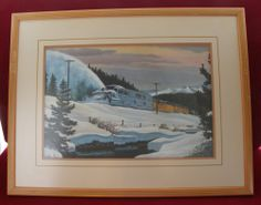 VINTAGE 1968 HOWARD FOGG PRINT CLEARING THE LINE UNION PACIFIC RAILROAD 18 X 23 99$