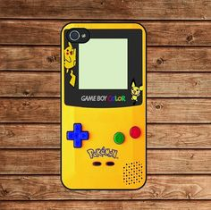 iphone 4 case,iphone 4s case,apple iphone case--Pokemon GameBoy Color Yellow,in plastic or silicone case by jane77