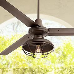 Outdoor ceiling fan with light from horchow bronze outdoor ceiling 60 turbina franklin park bronze damp ceiling fan aloadofball