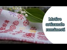Cusaturi artizanale romanesti-Motiv 1 - YouTube Blackwork, Embroidery Designs, Diy And Crafts, The Creator, Youtube, Make It Yourself, Videos, Indian Embroidery, Hand Embroidery