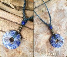Collar piedra Sodalita azul collar de piedra de gema por MerakiEtsy