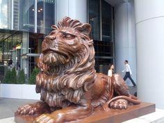 Stitt - Lion statue outside the HSBC Building - Hong Kong 2014