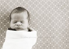 Patterned background and swaddled babe. Love this! #newborn #photography