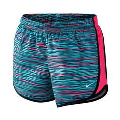 The fun Nike Girls' Tempo Allover Print Short are great for any athletic activity. All over print gives these shorts a fun edge, while the comfortable style ensures the perfect match. The moisture-wicking Dri-FIT fabric is accented with an elastic waistband for the perfect fit with mesh side panels for great ventilation. An internal pocket at the back right waist offers a place to stash your phone after you leave the court. Built-in briefs offer support and comfort.