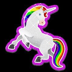 glitter unicorns | Glitter gifs » Unicorn