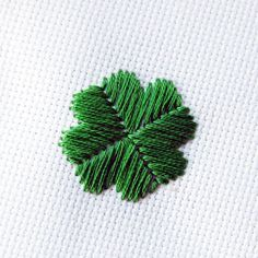 Embroidery Fundamentals: How to Do Satin Stitch - Tuts+ Crafts & DIY Tutorial Four leaf clover