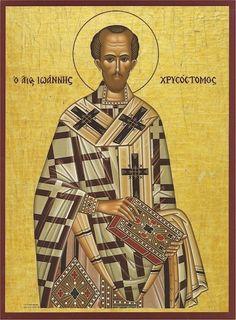 John Chrysostom, the Golden Trumpet of Orthodoxy Religious Icons, Religious Art, Religious Images, John Chrysostom, St Basil's, Byzantine Art, Byzantine Icons, Johannes, Christian Devotions