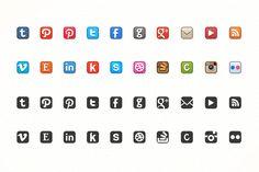 Dead-Simple Social Media Icons by Brian Reavis on Creative Market