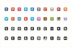 Dead-Simple Social Media Icons by Brian Reavis on Creative Market
