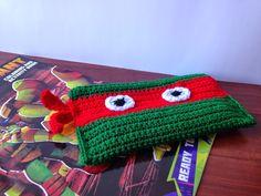 Crocheted Ninja Turtle Pencil Bag