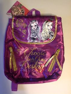 Ever After High :Choose Your Own Destiny Purse Backpack