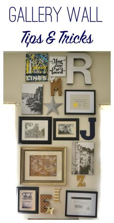 Tips and Tricks to create your own gallery wall--the easy way!