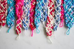 Liberty Braided Friendship Bracelets | The Purl Bee