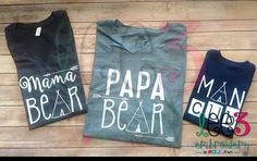 Mama Bear Shirt on Regular Unisex TShirt by LeeThreeEmbroidery