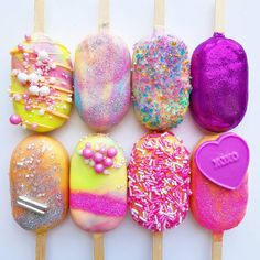 Cake Designs For Girl, Cake Design For Men, Cute Cookies, Cupcake Cookies, Magnum Paleta, Lolly Cake, Candy Birthday Cakes, Cute Baking, Pastel Candy