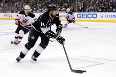 Justin Williams #14 was a big factor in LA's game 3 of the Finals, defensive puck control gave them a 4-0 victory over the New Jersey Devils.