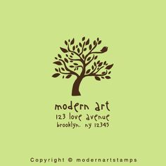 Custom Rubber Stamp  Personalized Stamp  Custom by modernartstamps, $10.00