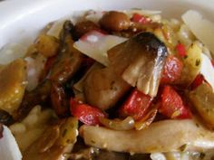 Receta Plato : Risotto de verduras con setas por Harapos