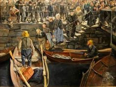 Fishmarked in Bergen. Artist: Christian Krohg 1906.