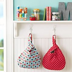Sewing Projects for The Home - Grab Bags - Free DIY Sewing Patterns, Easy Ideas and Tutorials for Curtains, Upholstery, Napkins, Pillows and Decor http://diyjoy.com/sewing-projects-for-the-home