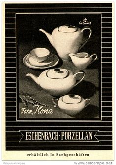 "Original-Werbung/Anzeige 1954 - ESCHENBACH PORZELLAN / ""ILONA"" - ca. 65 x 110 mm"
